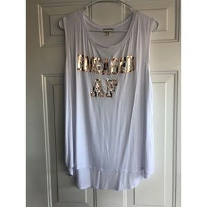"White ""Engaged AF"" Tank Top"